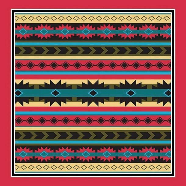 Pañuelo con mosaicos decorativos tribus nativas americanas